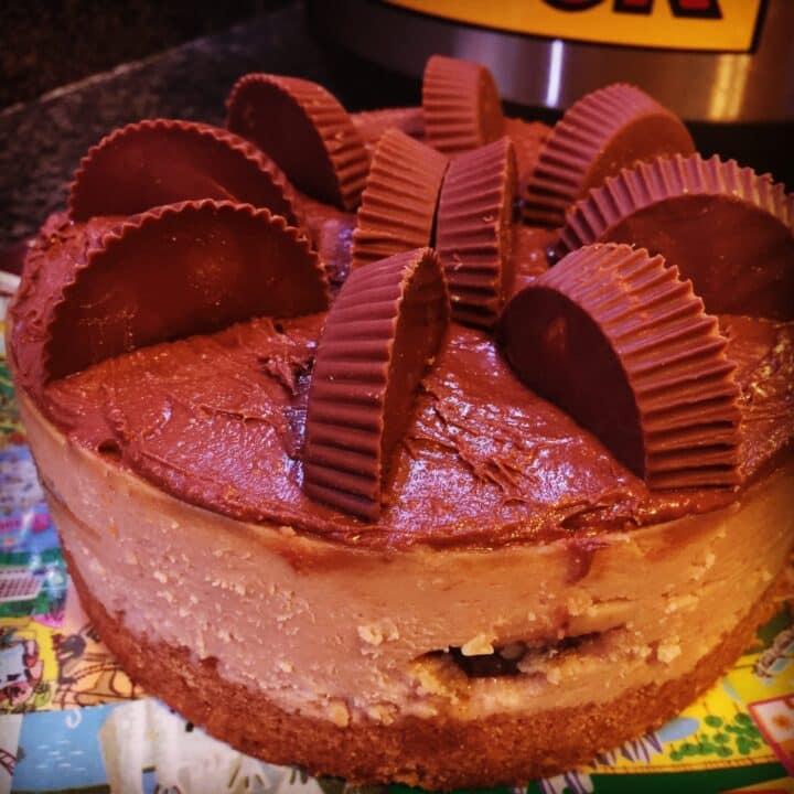 Instant Pot Peanut Butter Fudge Ripple Cheesecake