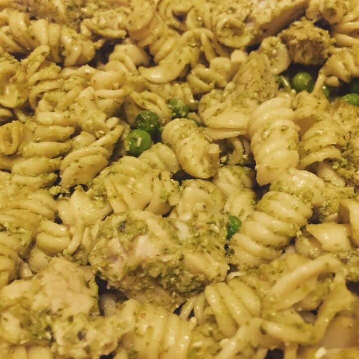 Instant Pot Pesto Chicken Pasta Salad