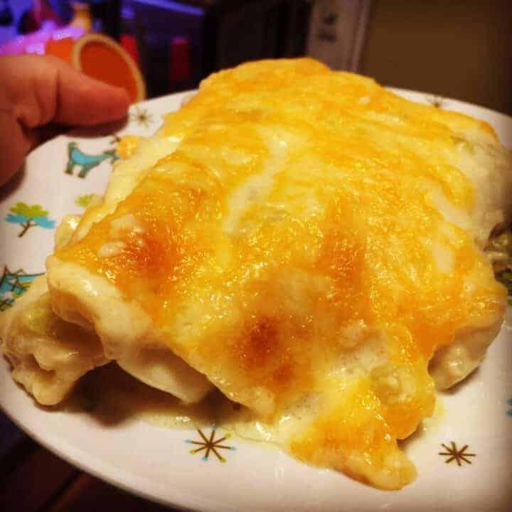 Instant Pot Creamy Chicken Enchiladas
