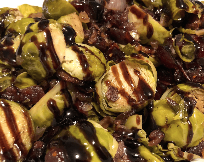 Instant Pot Cranberry Maple Balsamic Brussels Sprouts