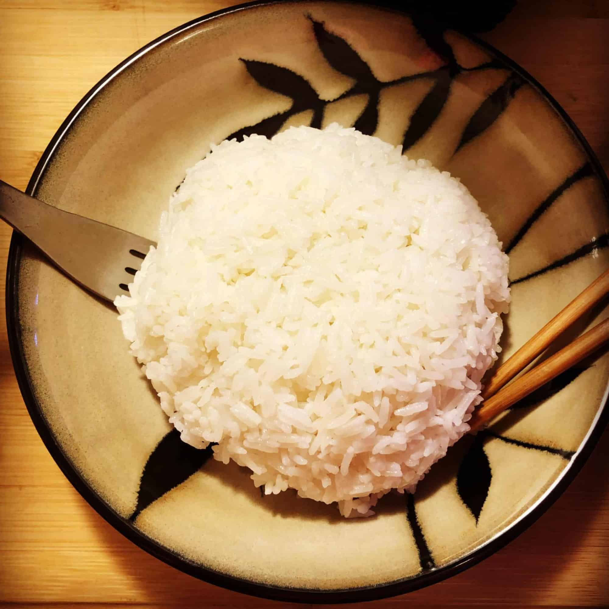 instant pot white rice pressure luck cooking