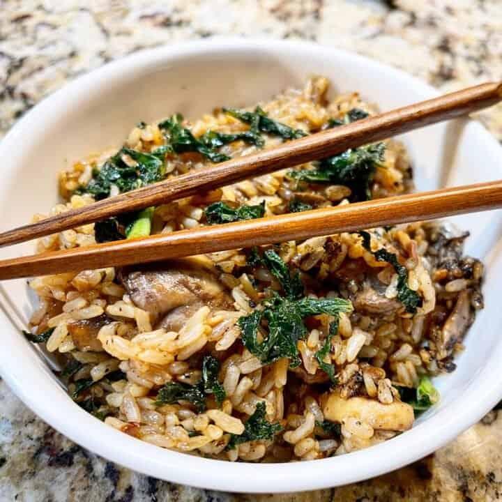 Instant Pot Crispy Kale Rice