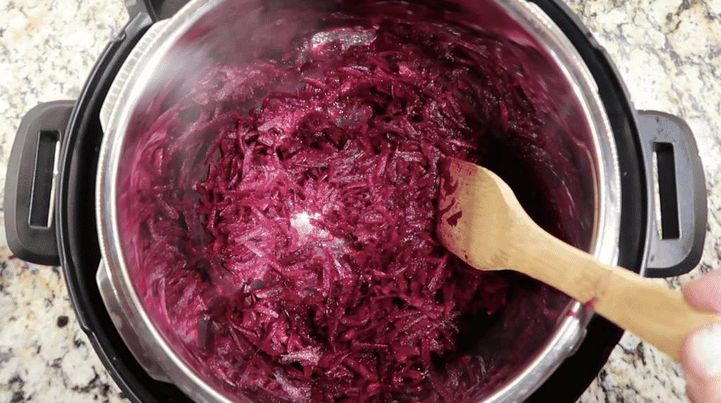 Sauteing beets
