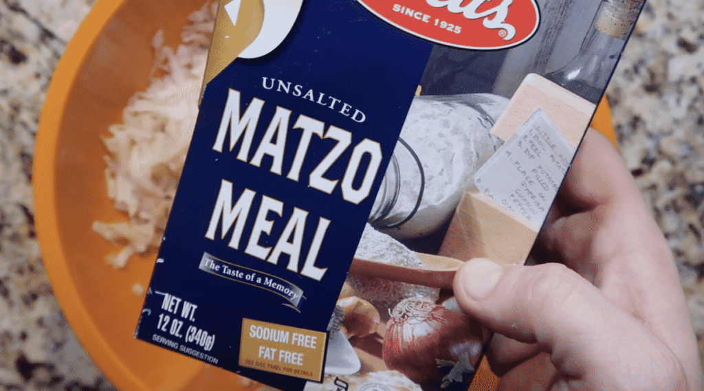 Box of matzo meal