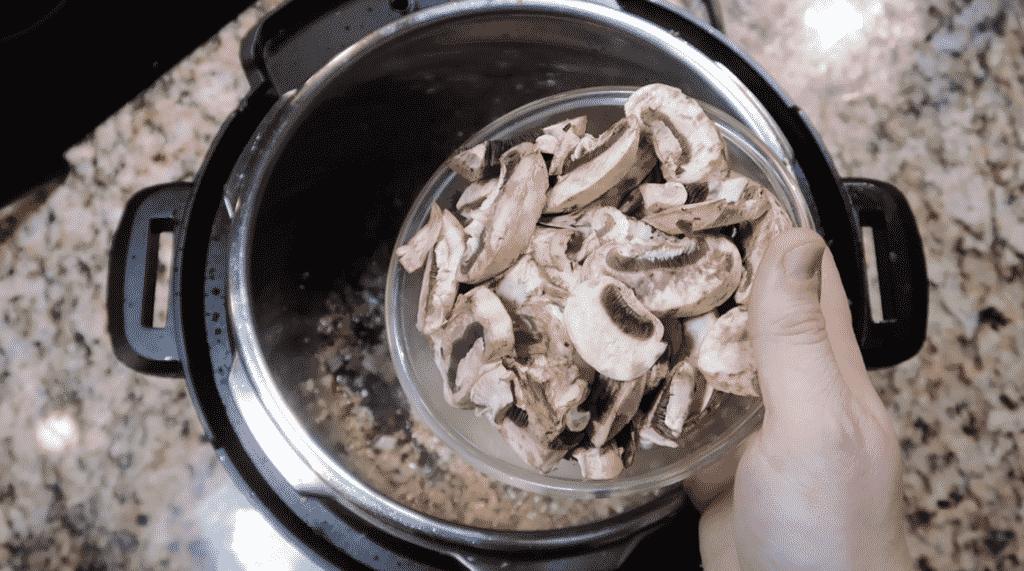 Adding in mushrooms