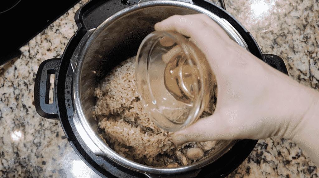 Adding honey