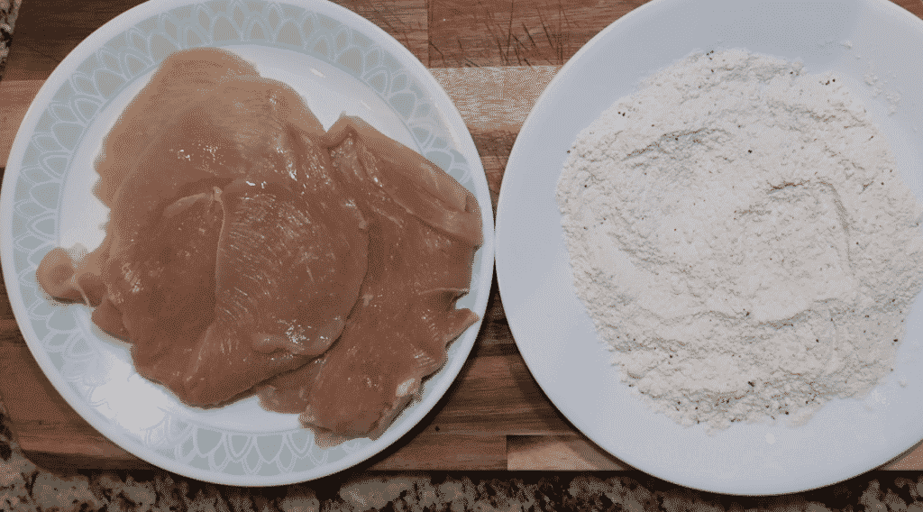 Chicken and flour