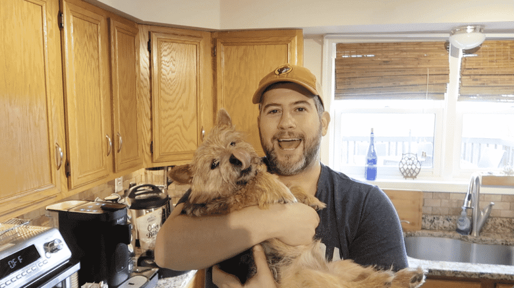 Jeffrey and dog