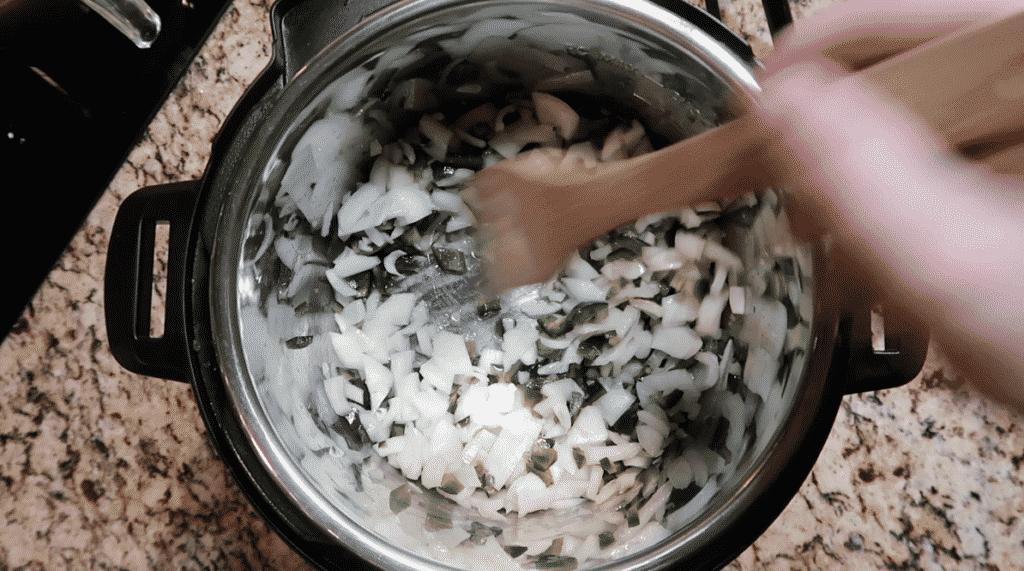 Sautéing veggies