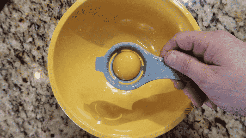 Egg separator with just yolk