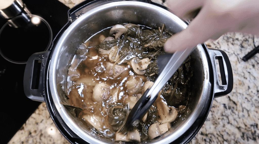 Tongs in pot