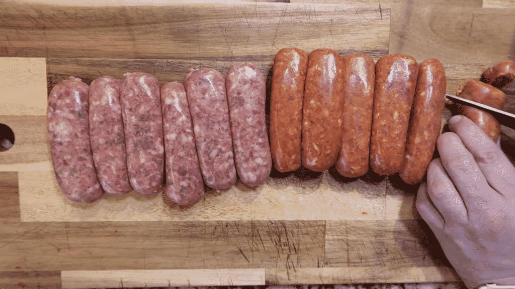Sausage slicing