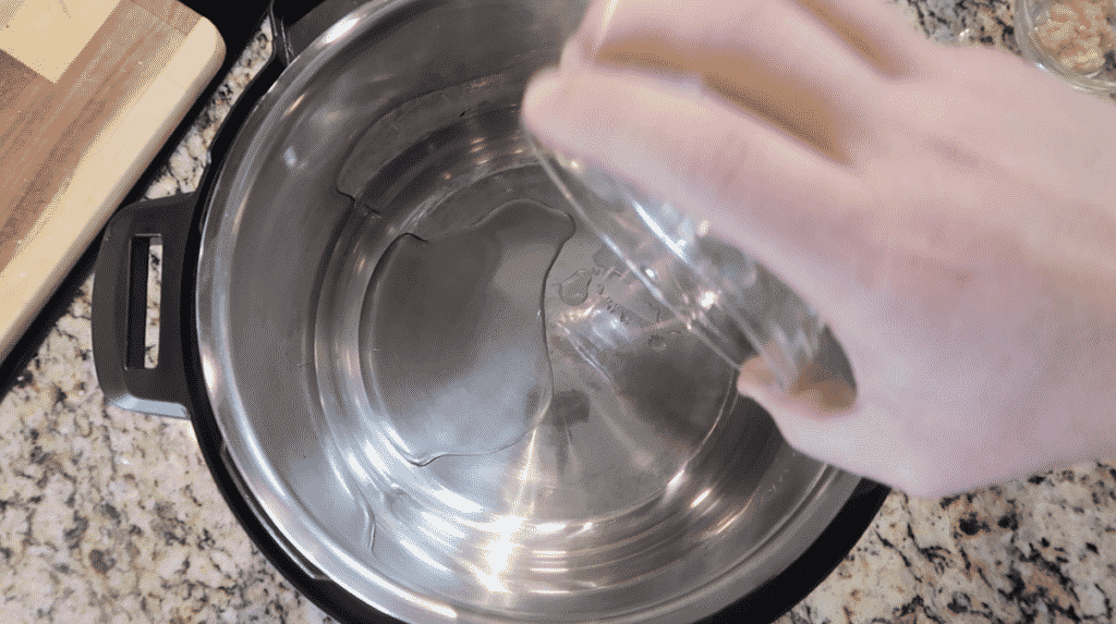 adding oil to instant pot