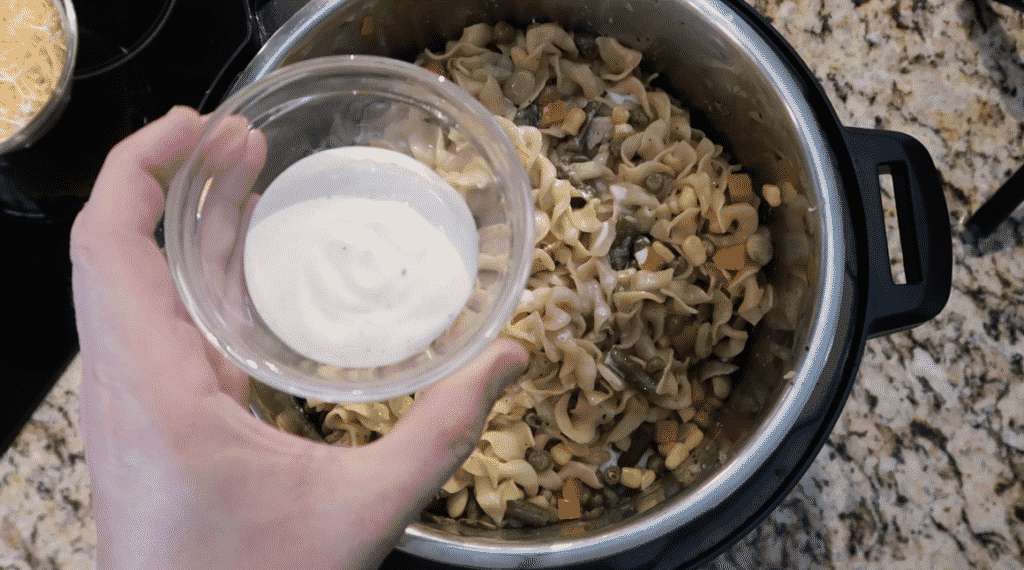 Adding ranch dressing to pot